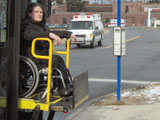 Bee-Line Rider in Wheelchair